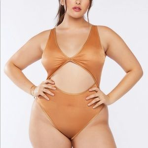 Savage x Fenty Tan Bodysuit Lingerie PLUS SIZE 1X